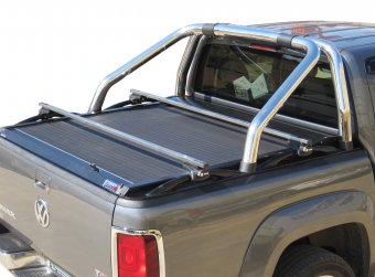 Guide (rotaie) per il tetto inossidabili per il VW Amarok, compatibile con roll bar originale VW OEM Φ76