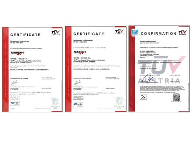 3 TUV AUSTRIA CERTIFICATIONS